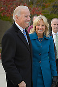 Vice President Joseph R. Biden and his wife Dr. Jill Biden leave their polling place in Greenville,Delaware on 6 November 2012. Photograph by Jim Graham