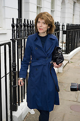 © licensed to London News Pictures. File picture dated 23/05/2011. Vicky Pryce the ex wife of Energy and Climate Change Secretary Chris Huhneoutside her home in Clapham, south London. Police investigating allegations that Energy Secretary Chris Huhne dodged speeding points today (10/06/2011) announced that they have handed preliminary papers to prosecutors . Photo credit should read: London News Pictures