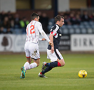 Dundee&rsquo;s Paul McGowan and Ross County&rsquo;s Tim Chow - Dundee v Ross County in the Ladbrokes Scottish Premiership at Dens Park, Dundee. Photo: David Young<br /> <br />  - &copy; David Young - www.davidyoungphoto.co.uk - email: davidyoungphoto@gmail.com