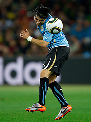 Jorge Fucile of Uruguay during the  2010 FIFA World Cup South Africa Quarter Finals football match between Uruguay and Ghana on July 02, 2010 at Soccer City Stadium in Sowetto, suburb of Johannesburg. Uruguay defeated Ghana after penalty shots. (Photo by Vid Ponikvar / Sportida)