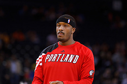Feb 15, 2012; Oakland, CA, USA; Portland Trail Blazers power forward Craig Smith (83) warms up before the game against the Golden State Warriors at Oracle Arena. Portland defeated Golden State 93-91. Mandatory Credit: Jason O. Watson-US PRESSWIRE