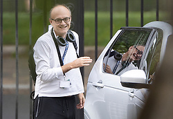 © Licensed to London News Pictures. 29/06/2020. London, UK. Senior government advisor Dominic Cummings smiles as he arrives in Downing Street. Cabinet Secretary Sir Mark Sedwill has announced that he will stand down in September. Photo credit: Peter Macdiarmid/LNP