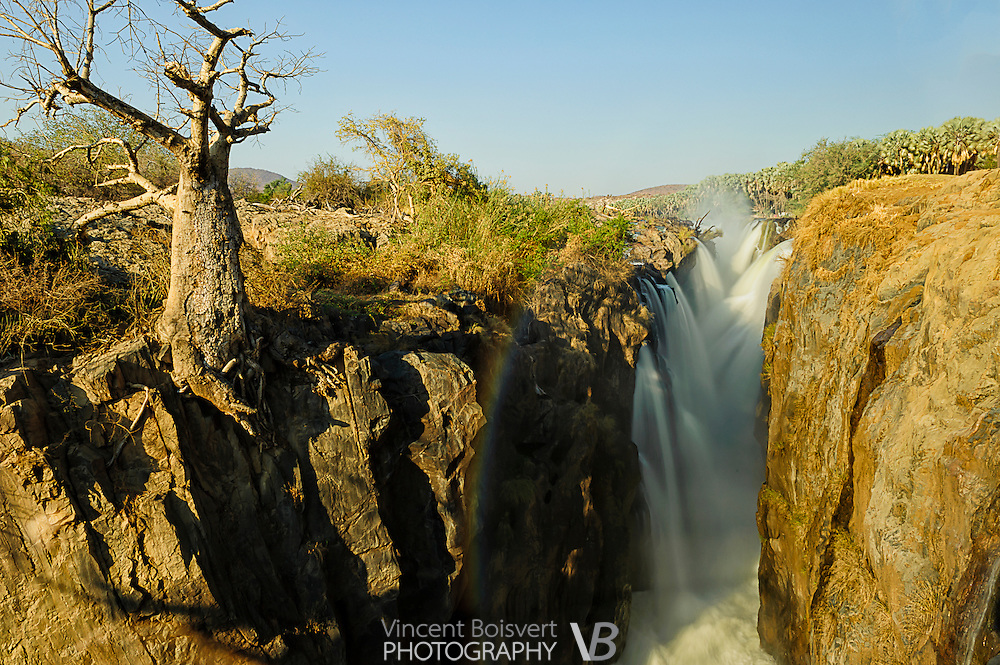 A close-up view of Epupa falls in northern namibia, near angola border
