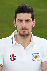 Benny Howell of Gloucestershire Cricket poses for a headshot in the County Championship kit - Mandatory byline: Rogan Thomson/JMP - 04/04/2016 - CRICKET - Bristol County Ground - Bristol, England - Gloucestershire County Cricket Club Media Day.