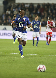 October 20, 2018 - Strasbourg, France - before the French L1 football match between Strasbourg (RCSA) and Monaco at the Meinau stadium in Strasbourg, eastern France on October 20, 2018. (Credit Image: © Elyxandro Cegarra/NurPhoto via ZUMA Press)