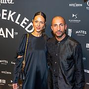 NLD/Amsterdam/20191114 - Uitreiking Esquires Best Geklede Man 2019, Willem de Bruin en partner