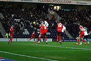 Joe Garner with the opening goal during the Sky Bet Championship match between Preston North End and Charlton Athletic at Deepdale, Preston, England on 23 February 2016. Photo by Pete Burns.