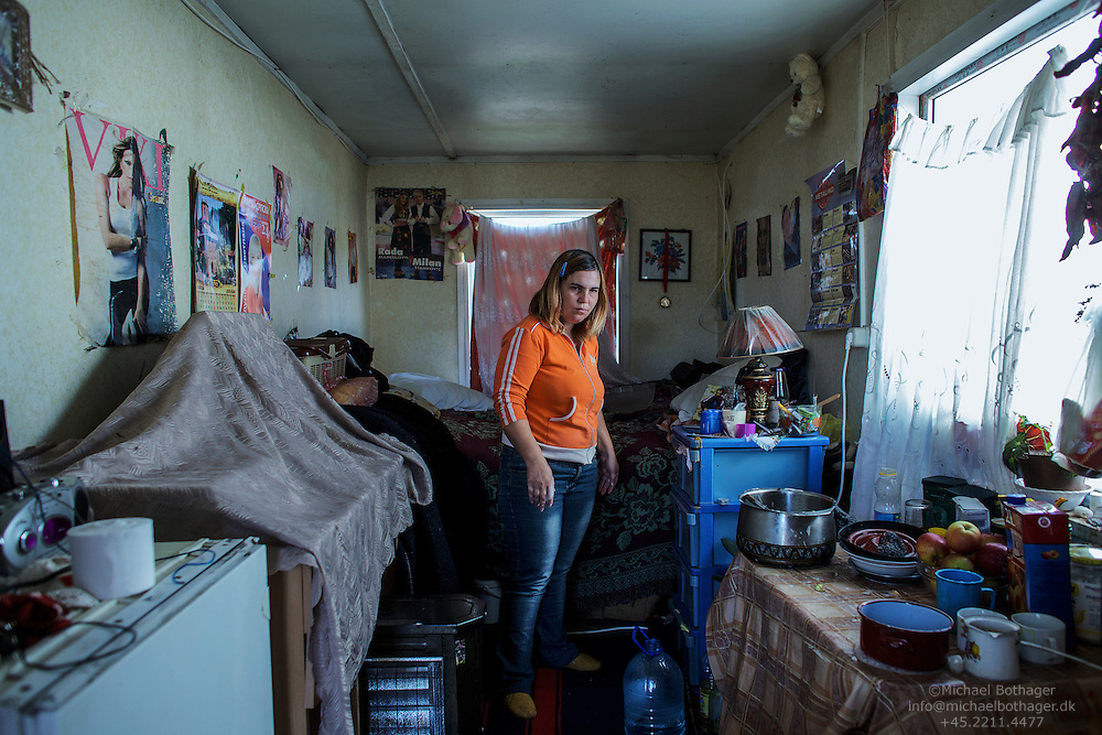 Javorka Cvejic, 34, lives in Camp Padaliste, a small IDP container settlement at the outskirts of the Serbian enclave Gracanica, with her mother Milanka, 71.