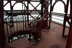 UK ENGLAND LANCASHIRE BLACKPOOL 1DEC04 - Detail of ironworks on top of Blackpool Tower, built in 1894 as an imitation of Paris' Eiffel Tower.....jre/Photo by Jiri Rezac....© Jiri Rezac 2004....Contact: +44 (0) 7050 110 417..Mobile:  +44 (0) 7801 337 683..Office:  +44 (0) 20 8968 9635....Email:   jiri@jirirezac.com..Web:    www.jirirezac.com....© All images Jiri Rezac 2004 - All rights reserved.