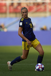 June 29, 2019 - Rennes, France - Fridolina Rolfo (FC Bayern Munchen) of Sweden controls the ball during the 2019 FIFA Women's World Cup France Quarter Final match between Germany and Sweden at Roazhon Park on June 29, 2019 in Rennes, France. (Credit Image: © Jose Breton/NurPhoto via ZUMA Press)