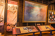 Interpretive display at Verkamp's Store, Grand Canyon National Park, Arizona USA