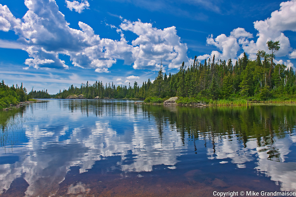 CLouds reflected in Burnfield Lake<br />