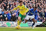 Ipswich Town defender Dominic Iorfa (2) is beaten by Norwich City defender Jamal Lewis (26) during the EFL Sky Bet Championship match between Norwich City and Ipswich Town at Carrow Road, Norwich, England on 18 February 2018. Picture by Nigel Cole.