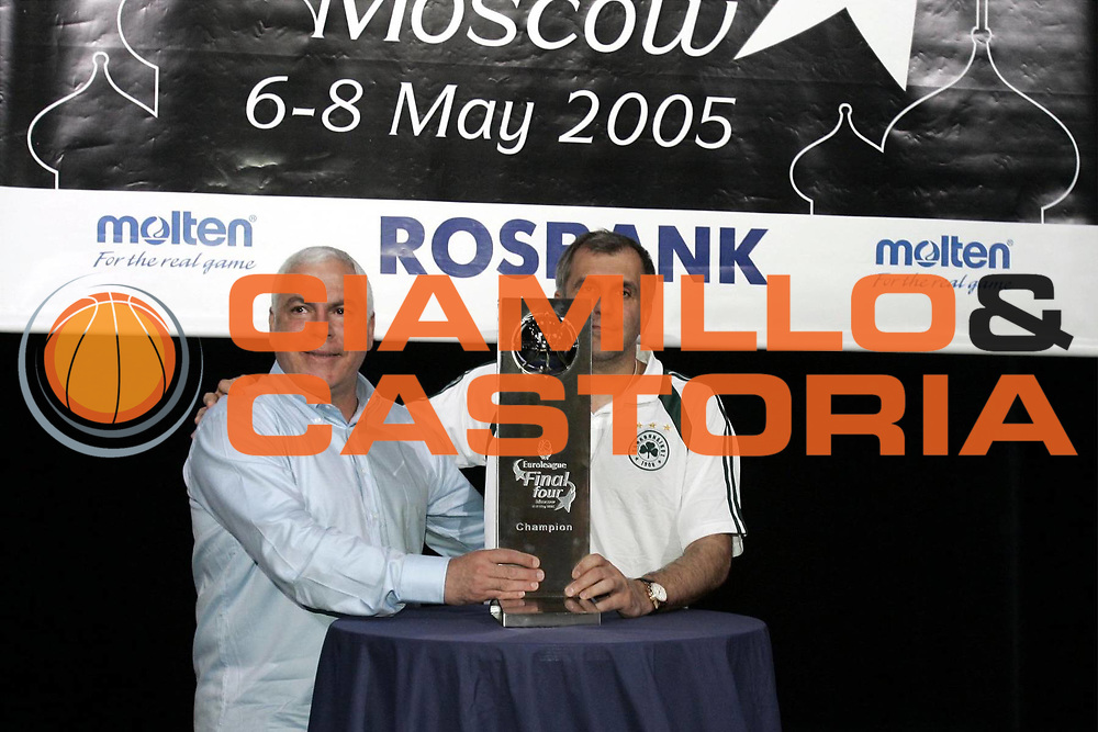 DESCRIZIONE : MOSCOW MOSCA FINAL FOUR EUROLEAGUE 2005<br /> GIOCATORE : GERSHON - OBRADOVIC<br /> SQUADRA : MACCABI TEL AVIV - PANATHINAIKOS ATHENS ATENE<br /> EVENTO : FINAL FOUR EUROLEAGUE 2005 PRESS CONFERENCE<br /> GARA : <br /> DATA : 05/05/2005 <br /> CATEGORIA : <br /> SPORT : Pallacanestro <br /> AUTORE : Agenzia Ciamillo-Castoria