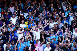 England fans celebrate seeing their side beat New Zealand in the World Cup Final to be crowned World Champions - Mandatory by-line: Robbie Stephenson/JMP - 14/07/2019 - CRICKET - Lords - London, England - England v New Zealand - ICC Cricket World Cup 2019 - Final