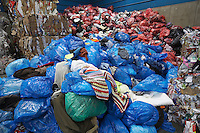 Piles of rubbish bags