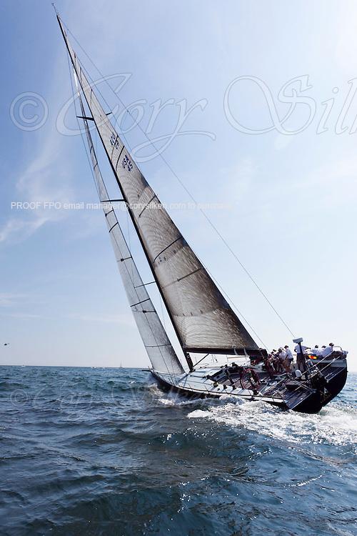 Bella Mente sailing at the start of the 2010 Newport Bermuda Race in Newport, Rhode Island.