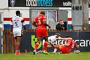 Sheffield Eagles hooker Matty Fozard (9) scores a try to make the score 10-12 during the Kingstone Press Championship match between Sheffield Eagles and Bradford Bulls at, The Beaumont Legal Stadium, Wakefield, United Kingdom on 3 September 2017. Photo by Simon Davies.