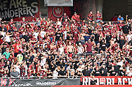 February 12, 2017: Western Sydney Wanderers fans at Round 19 of the 2017 Hyundai A-League match, between Western Sydney Wanderers and Central Coast Mariners played at Spotless Stadium in Sydney.