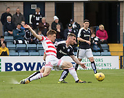 Dundee&rsquo;s Daryll Meggatt and Hamilton&rsquo;s Greg Docherty - Dundee v Hamilton Academical, Ladbrokes Scottish Premiership at Dens Park<br /> <br />  - &copy; David Young - www.davidyoungphoto.co.uk - email: davidyoungphoto@gmail.com