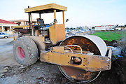 Israel, North District, Jezreel Valley, Afula, a steamroller