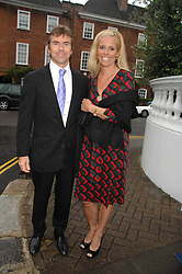 PAUL & VICTORIA STEWART he is the son of Jackie Stewart at the annual Sir David & Lady Carina Frost Summer Party in Carlyle Square, London SW3 on 5th July 2007.<br />