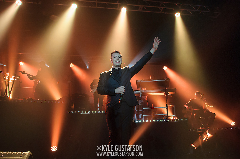 "WASHINGTON, DC - September 16th, 2014 - Sam Smith performs at Echostage in Washington, D.C. Smith gained notoriety in 2012 when he appeared on UK electronic act Disclosure's breakthrough single ""Latch."" His subsequent debut album, In The Lonely Hour, reached number two in the Billboard 200 album chart. (Photo by Kyle Gustafson / For The Washington Post)"