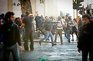 Rome oct 15, 2011 - Riots in Rome. Italian Students and Indignatos Protest Turns Violent.