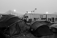 02 April 2016, Idomeni Greece - A view of Idomeni camp at sunrise.