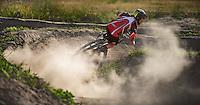 BRIGHTON, MICHIGAN - USA -  Dual Slalom, downhill mountain bike racing at Mt Brighton Wednesday June, 29, 2016 in Brighton, Michigan. (Photo by Bryan Mitchell)