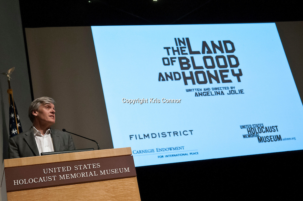 Tom Carver speaks during In The Land of Blood and Honey D.C. Premiere at the United States Holocaust Memorial Museum in Washington DC on January 10, 2012. Photo by Kris Connor for Film District