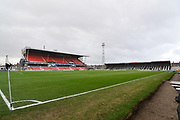 A general view inside Grimsby Town Blundel Park Stadium before the EFL Sky Bet League 2 match between Grimsby Town FC and Notts County at Blundell Park, Grimsby, United Kingdom on 22 December 2018.