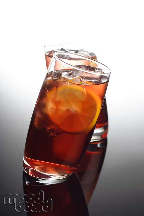 Close-up of beverage with ice