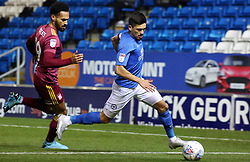 Niall Mason of Peterborough United in action with Jordan Roberts of Ipswich Town - Mandatory by-line: Joe Dent/JMP - 04/12/2019 - FOOTBALL - Weston Homes Stadium - Peterborough, England - Peterborough United v Ipswich Town - Leasing.com Trophy