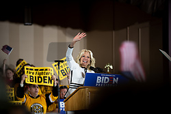 April 29, 2019 - Pittsburgh, PA, United States - Joe Biden's wife, Jill Biden seen speaking at podium during event..Speeches come before Joe Biden takes the stage in Pittsburgh. Joe Biden is running to be the Democratic Nominee for the 2020 presidential election. (Credit Image: © Aaron Jackendoff/SOPA Images via ZUMA Wire)