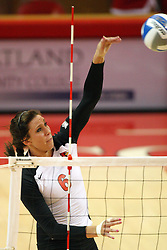 01 September 2012:  Brooklyn Hlafka during an NCAA womens volleyball match between the Oregon State Beavers and the Illinois State Redbirds at Redbird Arena in Normal IL