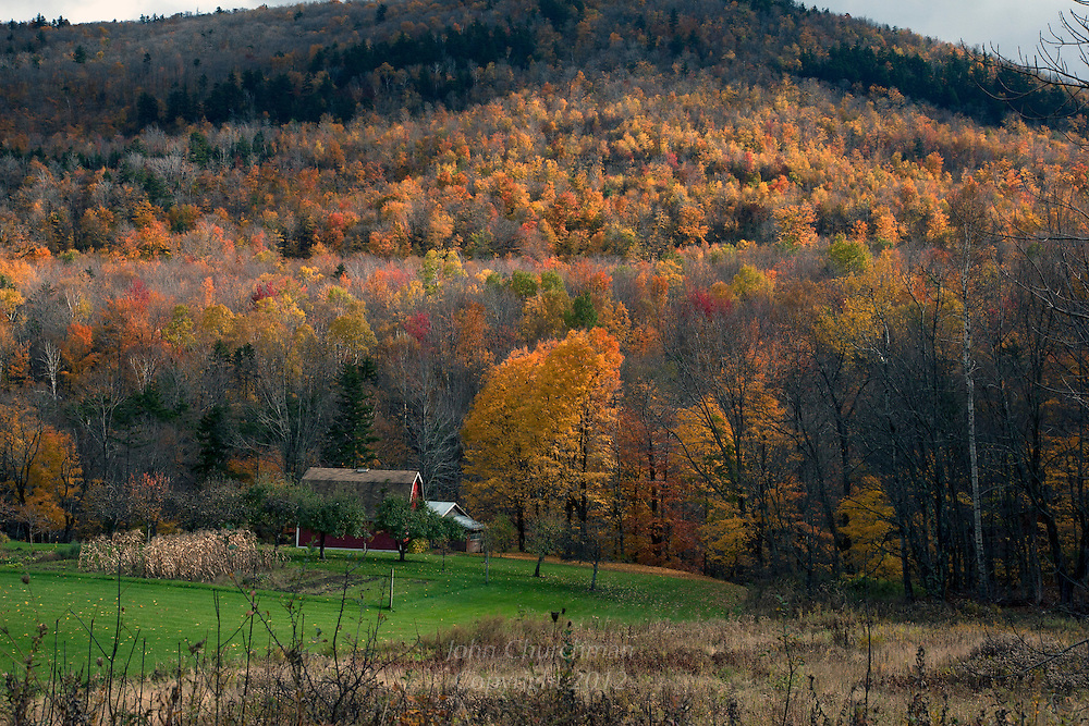 Fall foliage from Pleasant Valley Road in Underhill, Vermont