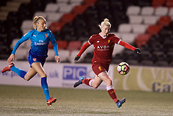 WIDNES, ENGLAND - Wednesday, February 7, 2018: Liverpool's Bethany England during the FA Women's Super League 1 match between Liverpool Ladies FC and Arsenal Ladies FC at the Halton Stadium. (Pic by David Rawcliffe/Propaganda)