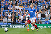 Portsmouth Forward, Curtis Main (14) during the EFL Sky Bet League 2 match between Portsmouth and Crawley Town at Fratton Park, Portsmouth, England on 3 September 2016. Photo by Adam Rivers.