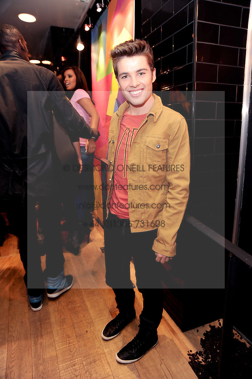 JOE McELDERRY at a party to celebrate the Firetrap Watches and Kate Moross Collaboration Launch, held at Firetrap, 21 Earlham Street, London, UK on 13th October 2010.