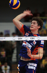 Matevz Kamnik at volleyball match of CEV Indesit Champions League Men 2008/2009 between Trentino Volley (ITA) and ACH Volley Bled (SLO), on November 4, 2008 in Palatrento, Italy. (Photo by Vid Ponikvar / Sportida)