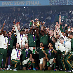 Rugby world cup champions South Africa during the Rugby World Cup Final match between South Africa Springboks and England Rugby World Cup Final at the International Stadium Yokohama  Japan.Saturday 02 November 2019. (Mandatory Byline -Credit: Sportpix - Kevin Booth Steve Haag Sports)