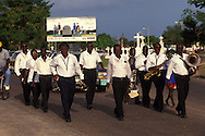BELIZE / Belize City / Music band at a funeral at the Cemetery...© JOAN COSTA