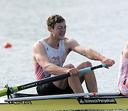 Eton, United Kingdom.  Men's Pair, Bow, Tom CLARK and James ORME.  Sat. time trial.  2011 GBRowing Trials, Dorney Lake. Saturday  16/04/2011  [Mandatory Credit; Peter Spurrier/Intersport-images] Venue For 2012 Olympic Regatta and Flat Water Canoe events.
