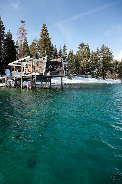 """Boat Dock on Lake Tahoe 2""- This old boat dock was photographed on the west shore of Lake Tahoe, CA."