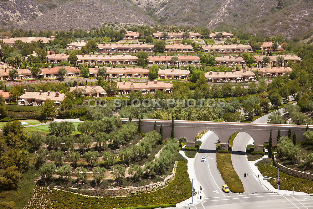 The Resort at Pelican Hill in Newport Coast California Aerial Stock Photo