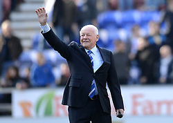 Wigan Chairman Dave Whelan bids the fans farewell following his resignation - Photo mandatory by-line: Richard Martin-Roberts/JMP - Mobile: 07966 386802 - 07/03/2015 - SPORT - Football - Wigan - DW Stadium - Wigan Athletic v Leeds United - Sky Bet Championship