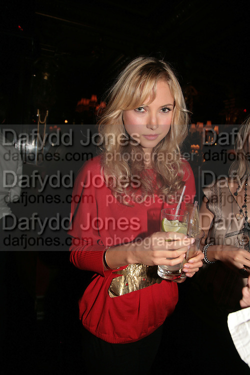 ELLA MCNANEY, Agent Provocateur celebrate the launch of Agent Provocateur Maitresse Gold Edition. The Grill Room. Cafe Royal London. 3 October 2007. -DO NOT ARCHIVE-© Copyright Photograph by Dafydd Jones. 248 Clapham Rd. London SW9 0PZ. Tel 0207 820 0771. www.dafjones.com.