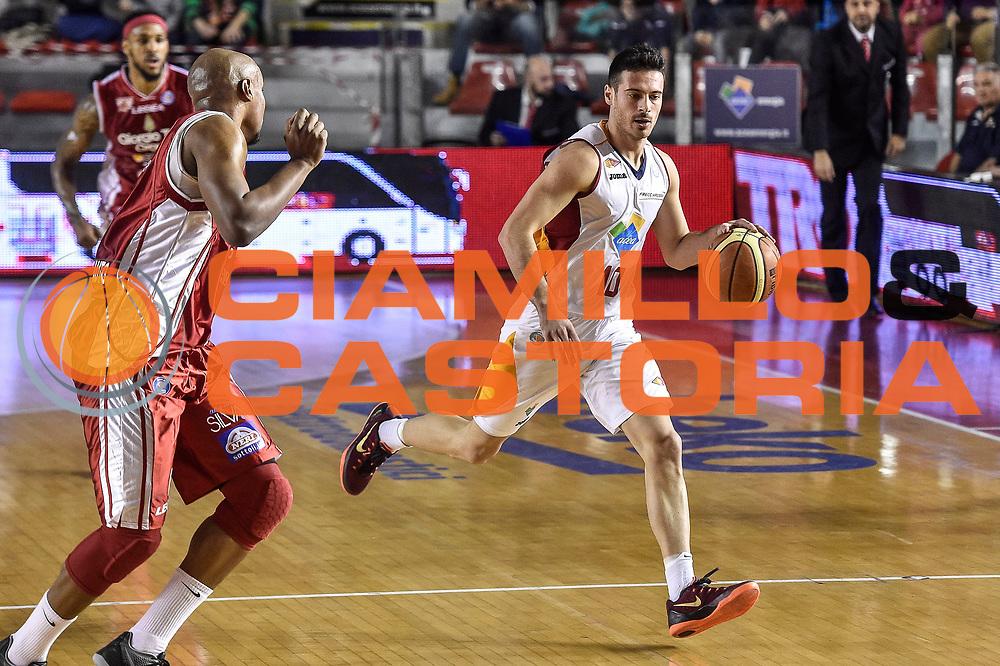 DESCRIZIONE : Campionato 2014/15 Virtus Acea Roma - Giorgio Tesi Group Pistoia<br /> GIOCATORE : Lorenzo D'Ercole<br /> CATEGORIA : Palleggio Contropiede<br /> SQUADRA : Virtus Acea Roma<br /> EVENTO : LegaBasket Serie A Beko 2014/2015<br /> GARA : Dinamo Banco di Sardegna Sassari - Giorgio Tesi Group Pistoia<br /> DATA : 22/03/2015<br /> SPORT : Pallacanestro <br /> AUTORE : Agenzia Ciamillo-Castoria/GiulioCiamillo<br /> Predefinita :