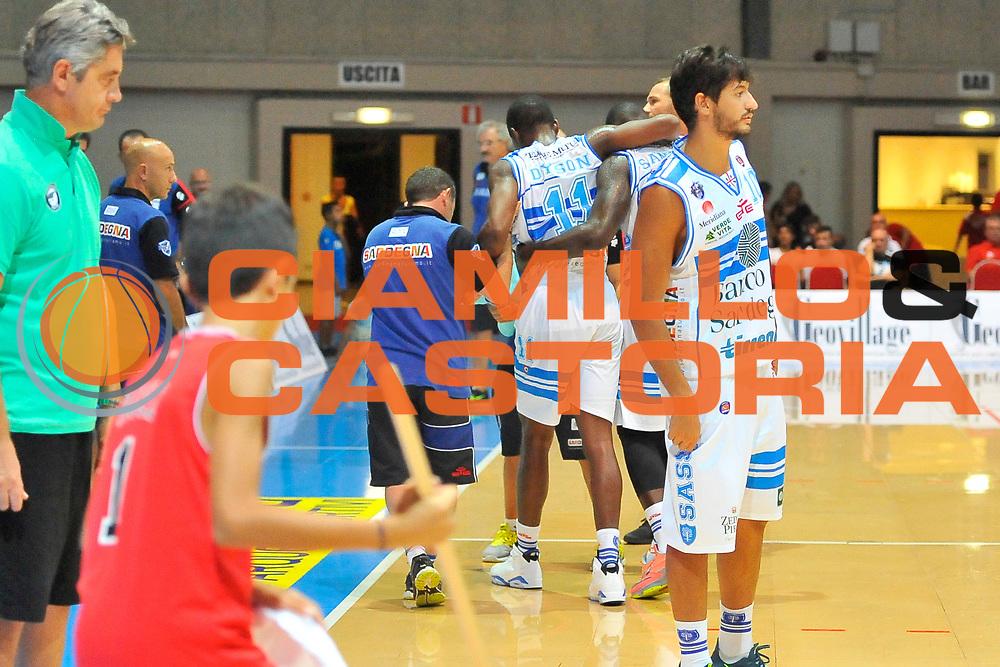 DESCRIZIONE : Torneo Internazionale Geovillage Olbia Dinamo Banco di Sardegna Sassari - Darussafaka Bogus<br /> GIOCATORE : Jerome Dyson<br /> CATEGORIA : Infortunio<br /> SQUADRA : Dinamo Banco di Sardegna Sassari<br /> EVENTO : Torneo Internazionale Geovillage Olbia<br /> GARA : Dinamo Banco di Sardegna Sassari - Darussafaka Bogus<br /> DATA : 06/09/2014<br /> SPORT : Pallacanestro <br /> AUTORE : Agenzia Ciamillo-Castoria / Luigi Canu<br /> Galleria : Precampionato 2014/2015<br /> Fotonotizia : Torneo Internazionale Geovillage Olbia Dinamo Banco di Sardegna Sassari - Darussafaka Bogus<br /> Predefinita :